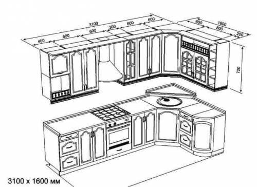 кухня своими руками чертеж - Оформление кухни на фото. - Фотоальбомы - Дизайн интерьера кухни