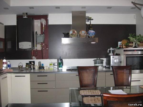 Дизайн кухонь с котлом