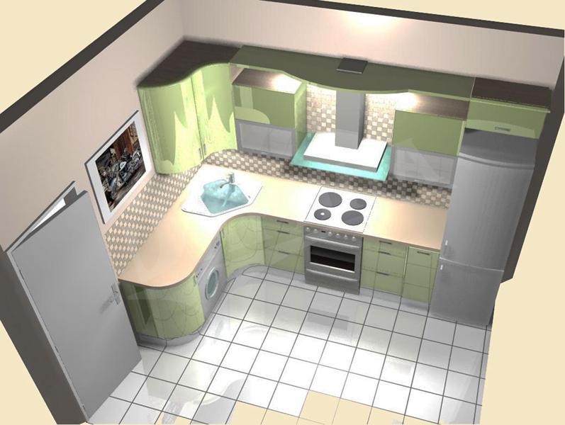 Дизайны кухни фото 9 кв