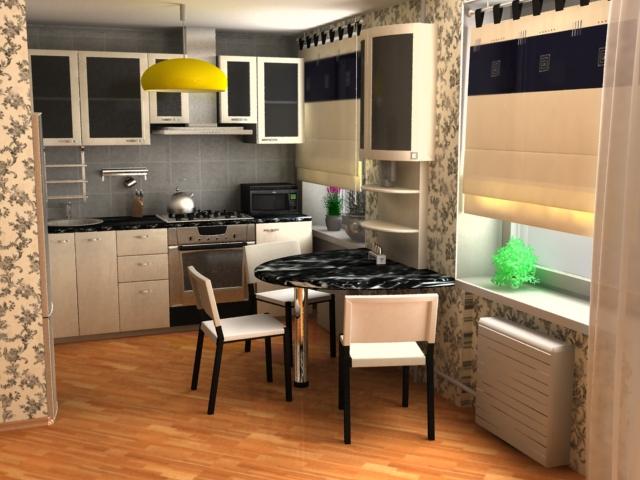 Совмещенная кухня с гостиной в панельном доме фото.