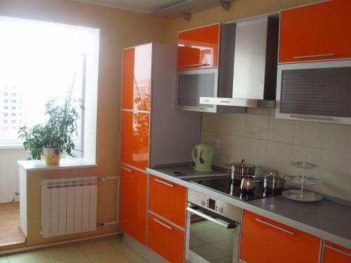 Маленькие кухни с балконом