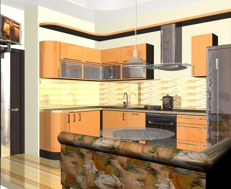 Кухня угловая дизайн интерьер