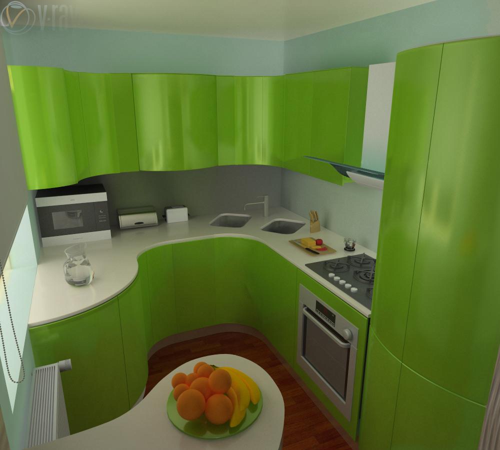 Ремонт маленькой кухни угловая