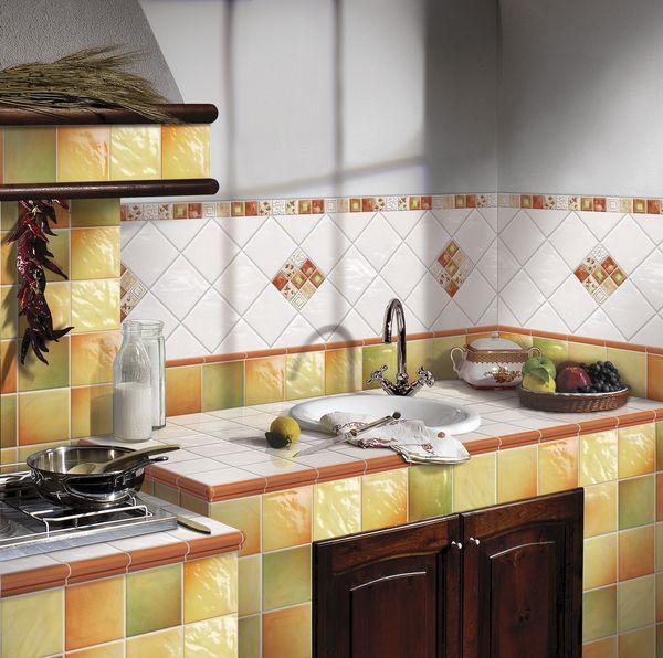Дизайн кафельной плитки кухни