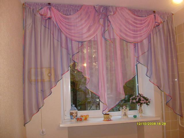 Шторы для розовой кухни фото