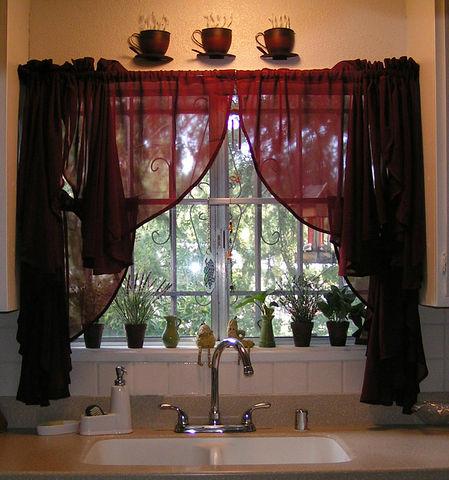 Как самой сделать шторы на кухню