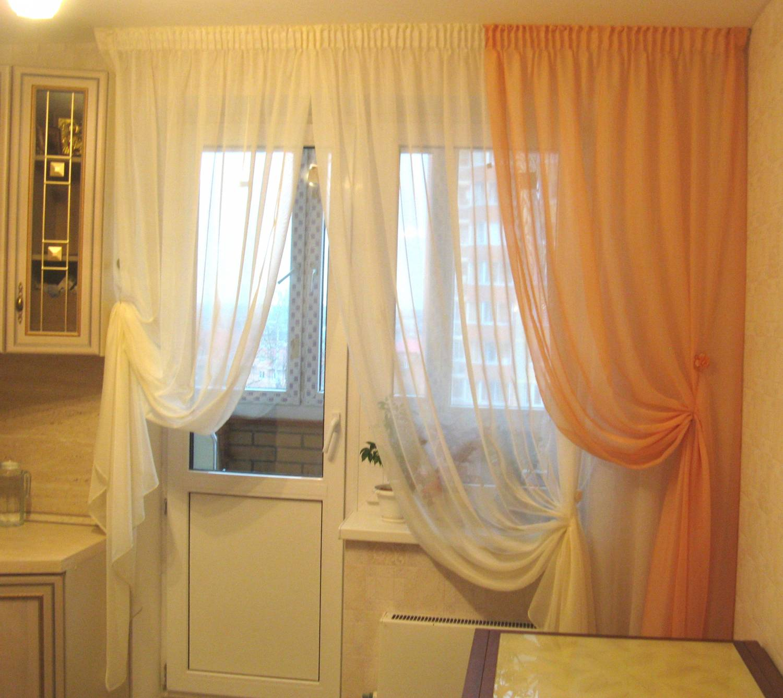 Дизайн штор на кухню с