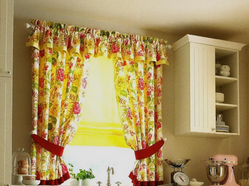 Идеи штор для кухни своими руками