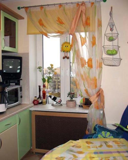 Шторы паутинка  на кухню